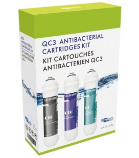 Kit 3 cartuchos QC3 antibacterias